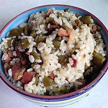 腊肉四季豆干饭