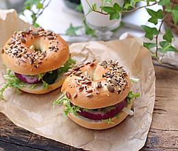 原味贝果三明治的做法