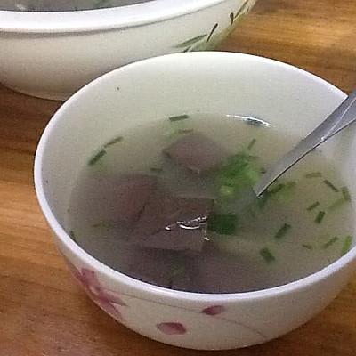 简单又美味的鸭血汤