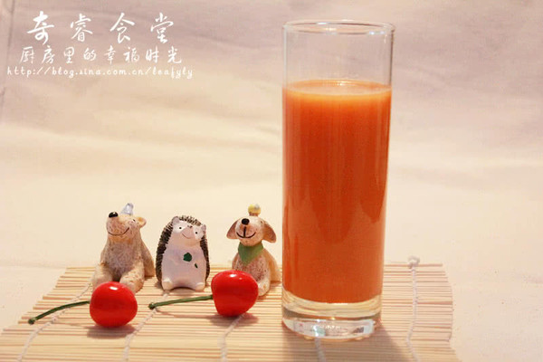 果蔬汁系列之胡萝卜苹果汁的做法