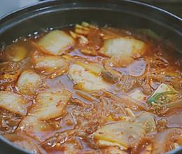 泡菜五花肉嫩豆腐汤的做法