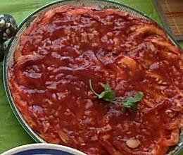 番茄酱大虾盘,微波8-10分钟!的做法