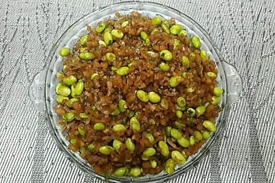 夏季开胃菜——萝卜干炒毛豆