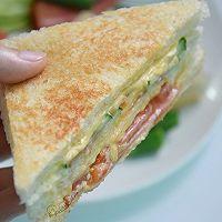 芝士火腿三明治#百吉福食尚达人#的做法图解8