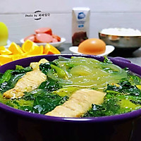 #一道菜表白豆果美食#粉条鲜肉菠菜汤的做法图解14