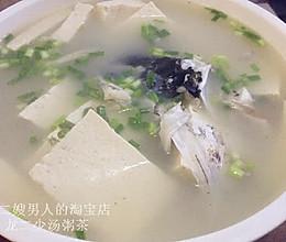 鲫鱼鱼头豆腐汤的做法