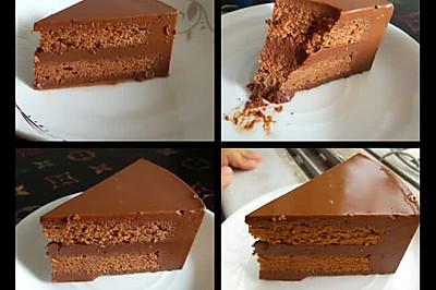 巧克力慕斯蛋糕。。。美丽美味美好。集美于一身的甜点。