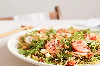 节气美食减肥版 | 小满谦卑,番茄味苦菊拌虾仁,低卡轻食