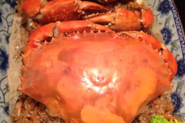 螃蟹蒸饭的做法
