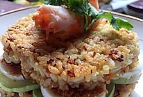 独特的早餐~煎米饼肉松三明治的做法