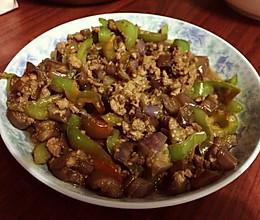 茄子炒肉丁的做法