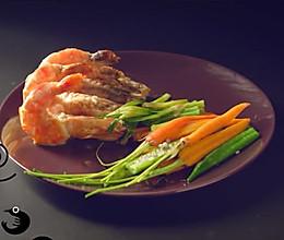 姜葱焗虎虾的做法