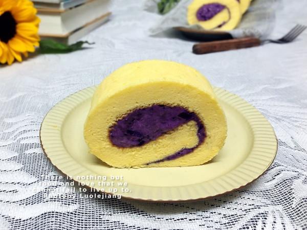 零失败紫薯蛋糕卷的做法