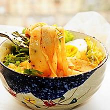 #全电厨王料理挑战赛热力开战!#干拌红油面皮