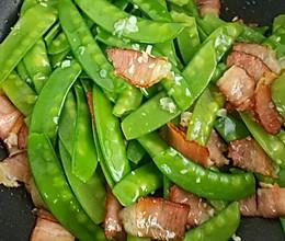 家常菜之腊肉炒荷兰豆的做法