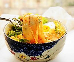 #全电厨王料理挑战赛热力开战!#干拌红油面皮的做法