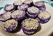 #换着花样吃早餐#低脂低卡紫薯饼的做法