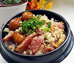 腊肠什锦焖饭 #美的初心电饭煲#的做法