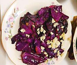 炒紫甘蓝的做法