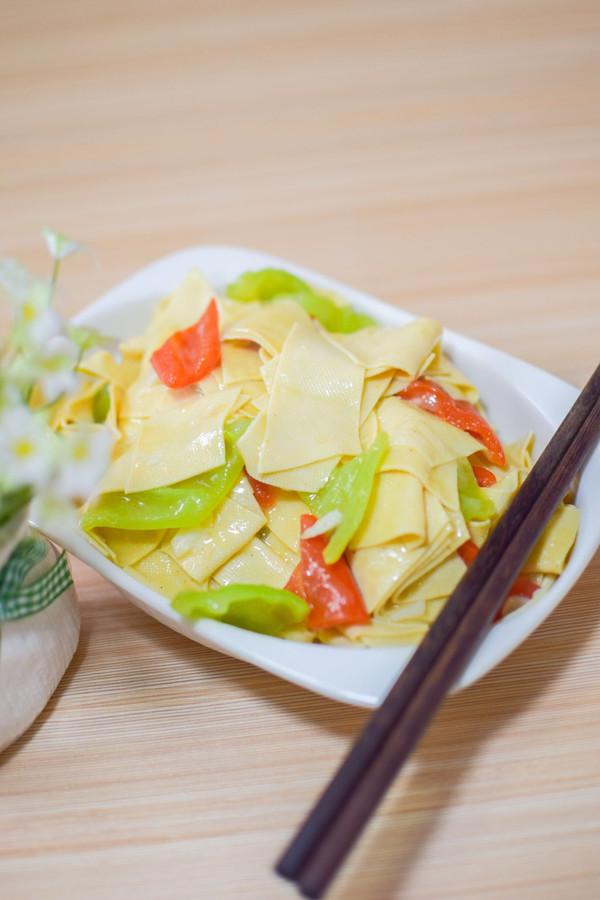 东北菜《尖椒干豆腐》的做法