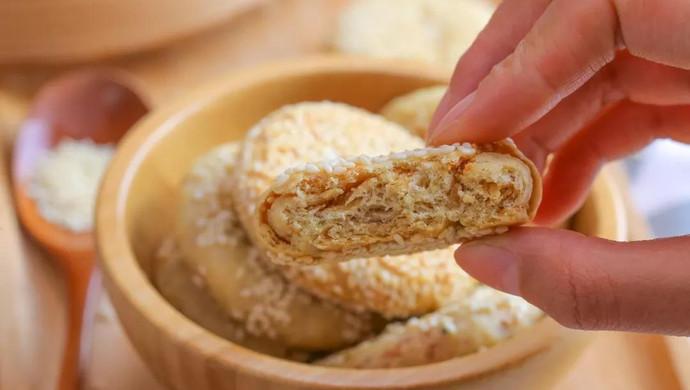 肉松千层芝麻饼 宝宝辅食食谱