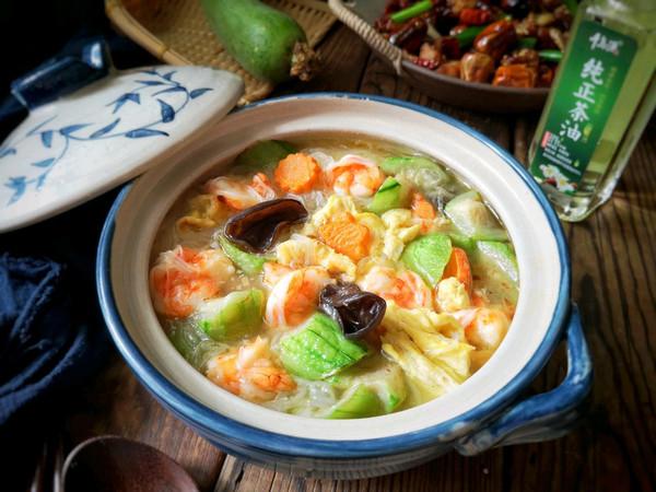 丝瓜鲜虾煲的做法