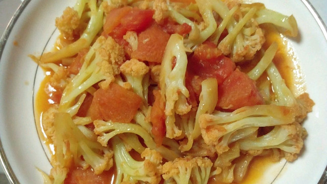 西红柿菜花的做法