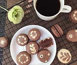 意式巧克力拉花马卡龙的做法