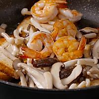 【虾仁菌菇烩豆腐】用这个方法吃豆腐,米饭闻风丧胆!的做法图解4