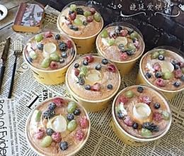 5寸纸杯戚风火锅水果蛋糕-中空戚风的做法