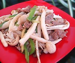 蟹味菇炒肉丝的做法