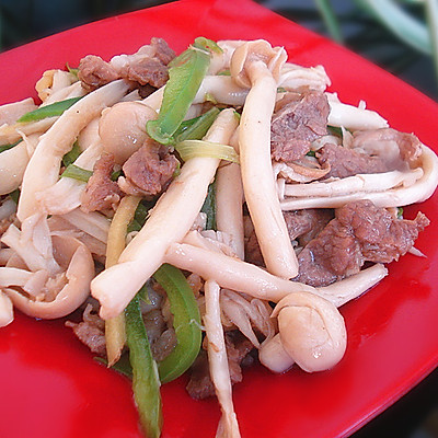 蟹味菇炒肉丝