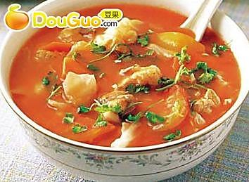 蕃茄排骨汤 的做法