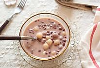 奶香红豆圆子羹的做法