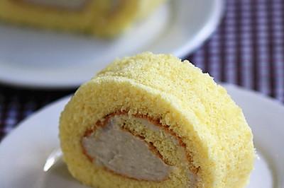 绵软细致的芋头蛋糕卷