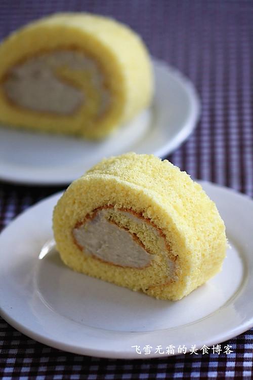 绵软细致的芋头蛋糕卷的做法