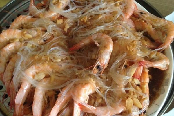 蒜茸开背虾的做法