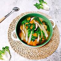 奶白菜蘑菇南瓜汤  #花10分钟,做一道菜!#的做法图解10