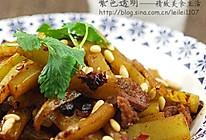 香辣豆豉牛肉炒莴笋的做法