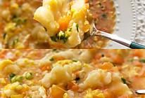 #一起加油,我要做A+健康宝贝#彩蔬鸡蛋面疙瘩汤的做法