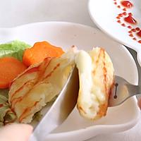 流心芝士土豆饼,宝宝的全能营养早餐的做法图解6