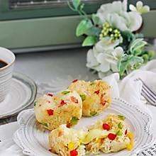 爆浆培根彩椒烤饭团