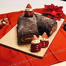 巧克力蛋糕卷—圣诞树桩蛋糕