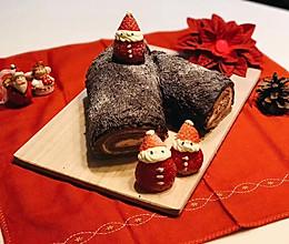 巧克力蛋糕卷—圣诞树桩蛋糕的做法