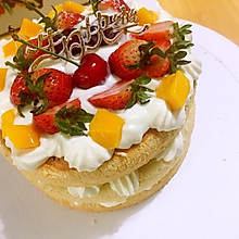 6寸奶油水果裸蛋糕#一机多能 一席饪选#