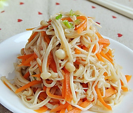 胡萝卜拌金针菇的做法