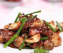 草菇蚝汁牛柳的做法