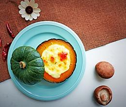 #美食新势力# 贝贝南瓜焗饭的做法