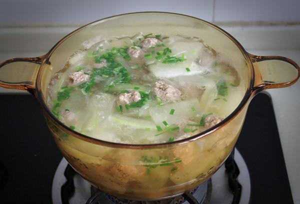 冬瓜肉圆汤的做法