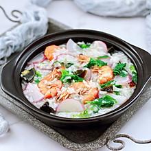 #今天吃什么#海虾皮蛋萝卜粥